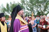 Преосвященный епископ Серапион совершил освящение места под строительство храма в честь святителя Николая в селе Максимовка Сандыктауского района 21.06.2017 г.