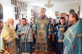 Неделя 5-я по Пятидесятнице. Преосвященный епископ Серапион  совершил Божественную литургию в храме святой великомученицы Варвары города Акколь 1.07.2018