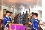 В Неделю 11-я по Пятидесятнице Преосвященный епископ Серапион совершил Литургию в храме преподобного Серафима Саровского пос. Шортанды