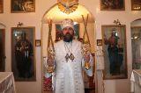 В Неделю 11-ю по Пятидесятнице в день памяти прмч. Дометия Преосвященный епископ Серапион совершил литургию в Покровском храме с.Егиндыколь 20 августа 2017 года