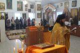 В четверг седмицы 27-й по Пятидесятнице Преосвященный епископ Серапион совершил Литургию в Никольском храме города Макинска 19.12.2019