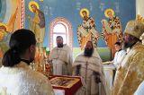 Преосвященный епископ Серапион совершил великое освящение Свято-Никольского храма в селе Максимовка 21.06.2018 г.