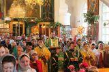 В праздник Святой Троицы Преосвященный епископ Серапион совершил Литургию в Михаило-Архангельском соборе Кокшетау 16.06.2019