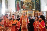 В Неделю «о слепом» Преосвященный епископ Серапион совершил Литургию в Михаило-Архангельском кафедральном соборе Кокшетау 2.06.2019