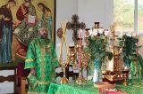 В праздник Святой Троицы Преосвященный епископ Серапион совершил Литургию в Михаило-Архангельском кафедральном соборе г. Кокшетау 27.05.2018