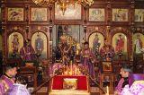 Преосвященный епископ Серапион совершил всенощное бдение с чином Воздвижения Креста в Михаило-Архангельском соборе Кокшетау 26.09.2018