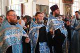 В праздник Благовещения Пресвятой Богородицы  Преосвященный епископ Серапион совершил Литургию в Михаило-Архангельском соборе Кокшетау 7.04.2019