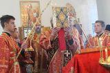 Архиерейское богослужение в престольный праздник на приходе святого великомученика Пантелеимона пос.Боровое 9.08.2019