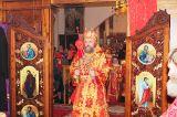 В праздник Светлого Христова Воскресения Преосвященный епископ Серапион совершил Пасхальные богослужения в Михаило-Архангельском кафедральном соборе Кокшетау 28.04.2019