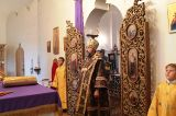Преосвященный епископ Серапион совершил Литургию в храме преподобного Сергия Радонежского г. Атбасар 14.08.2017 г.