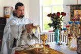 Преосвященный епископ Серапион совершил Литургию в храме Покрова Пресвятой Богородицы города Державинска 25.08.2019
