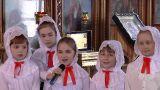 В день Светлого Христова Воскресения Преосвященный епископ Серапион совершил Пасхальную великую вечерню в Михаило-Архангельском кафедральном соборе Кокшетау