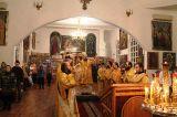 В день памяти святого праведного Иоанна Кронштадтского Преосвященный епископ Серапион совершил Литургию в кафедральном Михаило-Архангельском соборе Кокшетау 2.01.2019