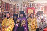 Преосвященный епископ Серапион совершил Божественную литургию в храме святого великомученика Пантелеимона Целителя пос. Шантобе 11.08.2019