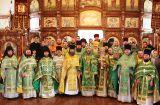 Служение Преосвященного епископа Серапиона в годовщину архиерейской хиротонии, в день памяти преподобного Амвросия Оптинского 23.10.2019