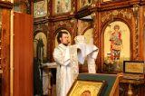В праздник Крещения Господня Преосвященный епископ Серапион совершил Литургию и чин великого освящения воды в кафедральном Михаило-Архангельском соборе Кокшетау 18-19 января 2018 г.