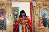 В субботу Светлой седмицы Преосвященный епископ Серапион совершил Литургию в храме святого великомученика целителя Пантелеимона пос.Боровое 4.05.2019