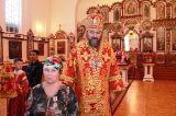 В среду Светлой седмицы Преосвященный епископ Серапион совершил Божественную литургию в храме преподобного Сергия Радонежского города Атбасар 1.05.2019