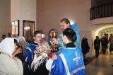 В праздник Покрова Пресвятой Богородицы Преосвященный епископ Серапион совершил Литургию в храме священномученика Елевферия Римского города Степногорска 14.10.2019