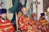 В понедельник Светлой седмицы Преосвященный епископ Серапион совершил Божественную литургию в храме святого Архистратига Божия Михаила города Щучинска 09.04.2018