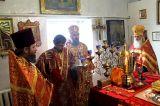 Во вторник Светлой седмицы Преосвященный епископ Серапион совершил Пасхальое богослужение на приходе в честь святителя Николая города Макинска 10.04.2018
