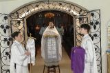 В праздник Собора Предтечи Господня Иоанна Преосвященный епископ Серапион совершил Литругию в храме святого Елевферия епископа Римского города Степногорска 20.01.2019