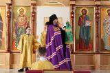 В праздник Входа Господня в Иерусалим Преосвященный епископ Серапион совершил Литругию в храме святого Елевферия епископа Римского города Степногорска 21.04.2019