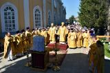 В день памяти первоверховных апостолов Петра и Павла Преосвященный епископ Серапион принял участие в торжествах в честь небесных покровителей города Петропавловска 12.07.2019