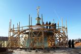 Установлен внутренний купол центральной  части собора Воскресения Христова г. Кокшетау 06.03.2017 г.
