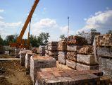 Строители начали возведение кирпичных стен кафедрального собора Воскресения Христова в г. Кокшетау 24.06.2016 г.