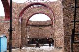 Продолжаются работы по возведению стен барабана главного купола и звонницы кафедрального собора  Воскресения Христова г.Кокшетау